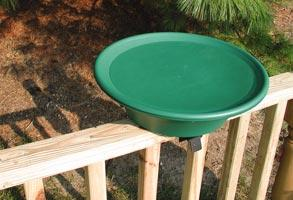 Deck-mounted Birdbath